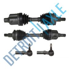 Buy 4 pc Kit Front Driver and Passenger CV Axle Shaft w/ ABS + 2 Outer Tie Rod Ends