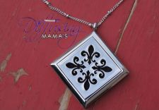 Buy Fleur-de-Lis Diffusing Mama's Brand Essential Oils Aromatherapy Locket Necklace