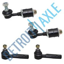 Buy 4 pc Set: 2 Front Outer Tie Rod End and 2 Front Stabilizer Bar Link Kit
