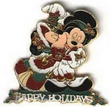 Buy Disney Minnie and Mickey Mouse Under the Mistletoe LE Pin/Pins
