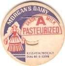 Buy New York N. Troy Milk Bottle Cap Name/Subject: Morgan's Dairy Grade A Milk~414