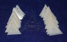 "Buy Mylar - 1"" Equilateral Triangle - 51 Piece Set - Quilting / Sewing Templates -"