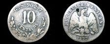 Buy 1877-Go S Mexican 10 Centavo World Silver Coin - Mexico