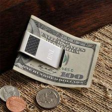 Buy Carbon Fiber Money Clip - Free Engaving