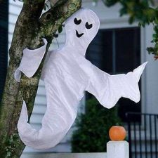 Buy Hanging Ghost Halloween Tree Wrap Decoration Trick Garden Holiday Decor Outdoor