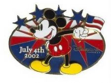 Buy Disney Mickey Mouse DLR - 4th of July American flag USA FLAG pin/pins
