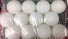 Buy 12-Pack - Solid Practice Golf Balls - White Dimple Surface Indoor/Outdoor - NEW!