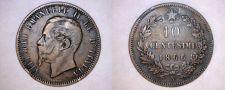Buy 1866-N Italian 10 Centesimi World Coin - Italy