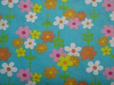 Buy Floral Flower Colorful Garden,Mint Green Cotton Fabric 55 x 55 cm,Fat Quarter