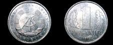 Buy 1979 A German Democratic Republic 1 Pfennig World Coin - East Germany