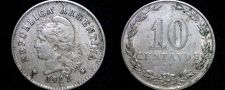 Buy 1921 Argentina 10 Centavo World Coin