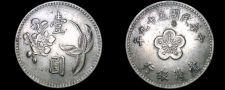 Buy 1970 YR59 Taiwan 1 Yuan World Coin - China Formosa