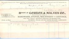 Buy New York Port Jervis Letterhead / Billhead Gordon & Malven Co., ~72