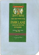 Buy New York Buffalo Matchcover Park Lane Manor House Restaurant ny_box4~2483