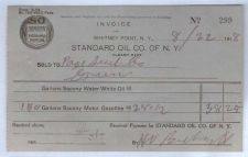 Buy New York Whitney Point Letterhead / Billhead Standard Oil Co. Of N.Y. Alba~51