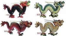 Buy RUCINNI Swarovski Crystals BeJeweled DRAGON Kirin Trinket Jewelry Hinged BOX