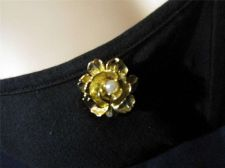 Buy Sarah Coventry Jewelry Rose Pin/Pendant (Gold in Bloom) #1041