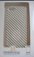 Buy iPhone 5 Case / Cover Gold/White Diagonal Stripe Design - NEW in box!