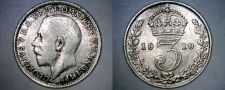 Buy 1919 Great Britain 3 Pence World Silver Coin - UK