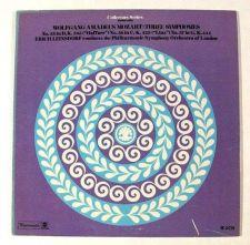 Buy WOLFGANG AMADEUS MOZART ~ Three Symphonies Erich Leinsdorf LP