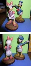 Buy Disney Donald & Daisy Duck Woodcarving Anri made in Italy