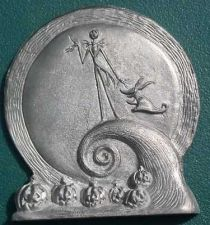Buy Nightmare Before Christmas Jack and Zero pewter plaque