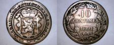 Buy 1860-A Luxembourg 10 Centimes World Coin