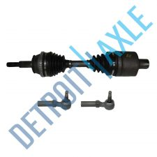 Buy 3 pc Kit - Front Driver CV Axle Drive Shaft - Made in USA + 2 Outer Tie Rod Ends