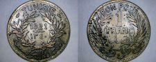 Buy 1921 Tunisian 1 Franc World Coin - Tunisia