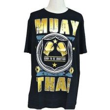 Buy MUAY THAI MEN TOP TEE T-SHIRT CASUAL FASHION SHORT SLEEVE 100% COTTON SIZE XL