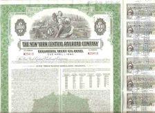 Buy New York New York Stock Certificate Company: New York Central Railroad Com~136