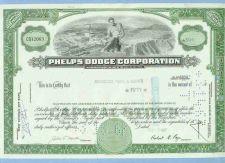 Buy New York na Stock Certificate Company: Phelps Dodge Corporation ~55
