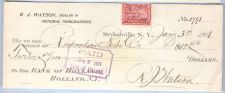 Buy New York Strykersville Cancelled Check R. J. Watson, Dealer in General Mer~14