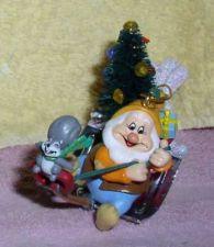 Buy Disney Snow White Happy with Squirrel Chipmunk figurine Ornament
