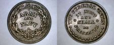 Buy 1863 Civil War Token Army and Navy The Federal Union Must and Shall Be Preserved