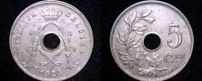 Buy 1924 Belgium 5 Centimes World Coin