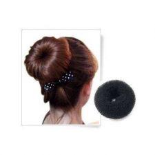Buy SODIAL(TM) FANCY BLACK BUN HAIR FORMER DONUT SHAPER RING STYLER HAIRDRESSING NEW