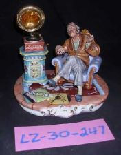 Buy CAPODIMONTE Grandfather with Gramaphone Laurenz Sculpture COA Italy 247