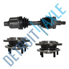 Buy 3 pc Kit - Front Driver CV Axle Joint Shaft + 2 Wheel Hub and Bearing Assembly
