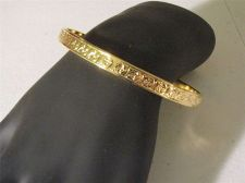 Buy Sarah Coventry Jewelry Bangle w/ border gold Large #1268