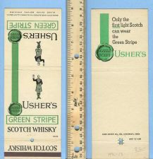 Buy New York New York City Giant Feature Matchcover Usher's Green Stripe Scotc~13