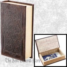 Buy Small Brown Faux Book Safe with Magnetic Closure Craft Box Hidden Compartment