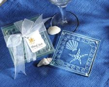 Buy Shell and Starfish Frosted Glass Coasters (Set of 24)