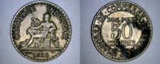 Buy 1922 French 50 Centimes World Coin - France