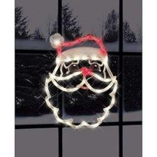 Buy Christmas Tree Lighted Rope Window Decoration Santa Claus Face Holiday Decor NEW