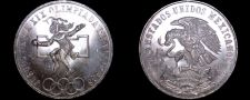 Buy 1968 Mexican 25 Peso World Silver Coin - Mexico Olympics