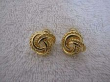 Buy Sarah Coventry Jewelry Love Knot Pierced Earrings #1308