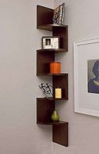 Buy Large Corner Wall Mount Shelf Decor Wood Office Home Storage Zig Box Package New