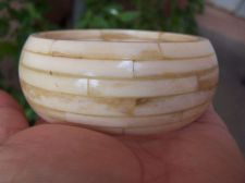 Buy Antique Faux Ivory bone Bangle Bracelet HEAVY 107 Grams