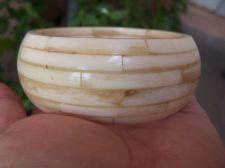 Buy Antique Faux Ivory bone Bangle Bracelet HEAVY 107 Grams